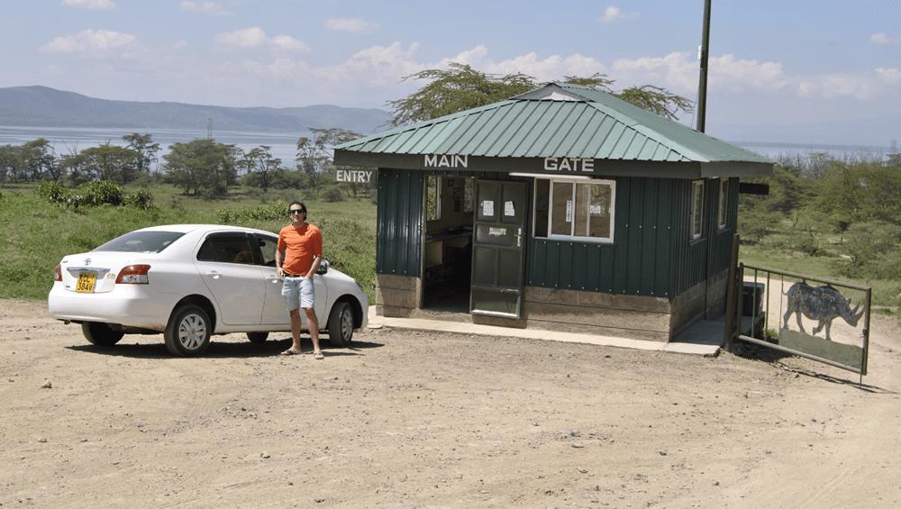 Entreda principal al lago Nakuru