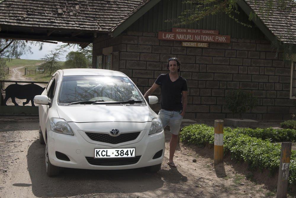 Entrada a Nakuru por Nderit Gate