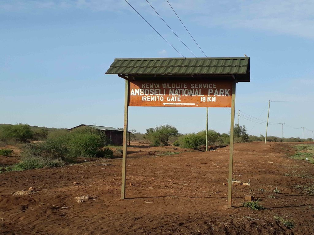 Cartel del Amboseli National PArk