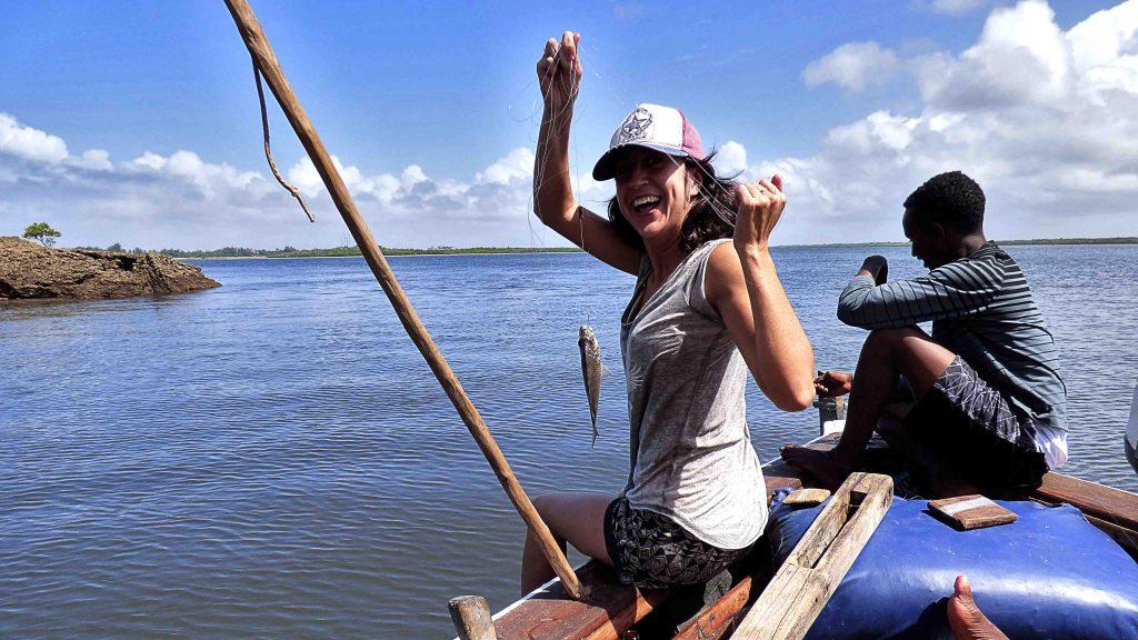 Pescando en Lamu