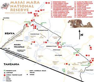 Mapa del Masai Mara